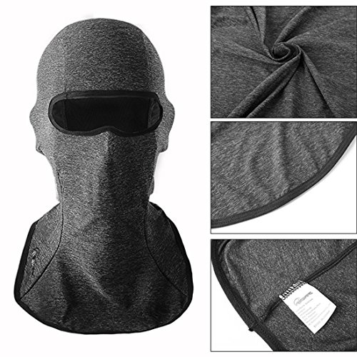 RIGWARL Balaclava Breathable Motorcycle Face Mask Men Lightweight Adjustable Full Face Mask for Skiing, Cycling, Running, Fishing, Outdoor Tactical Training-Wind Dust Pollution Rain Sun Protection