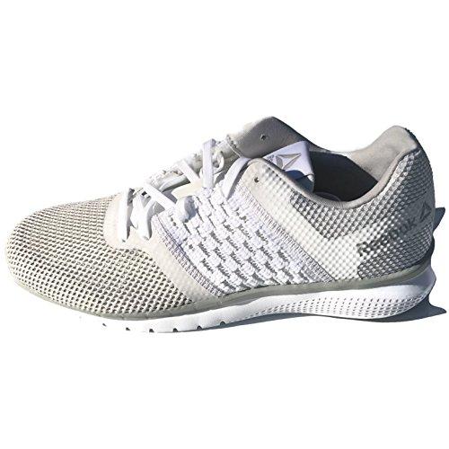 Reebok Womens Print Prime Runner Sneaker Bianco / Acciaio