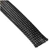 Wang-Data Black Braided Cable Sleeve 1/2 inch X 100ft (1/2