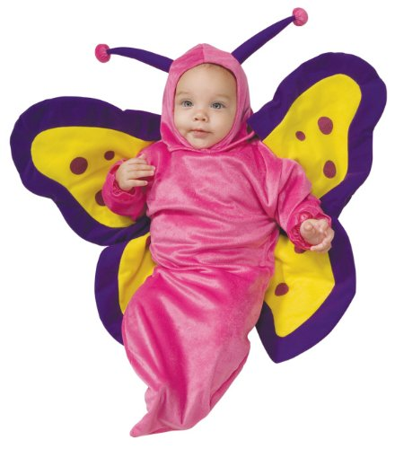 Deluxe Baby Bunting, Butterfly Costume, 0 to 9 (Butterfly Costume For Baby Girl)