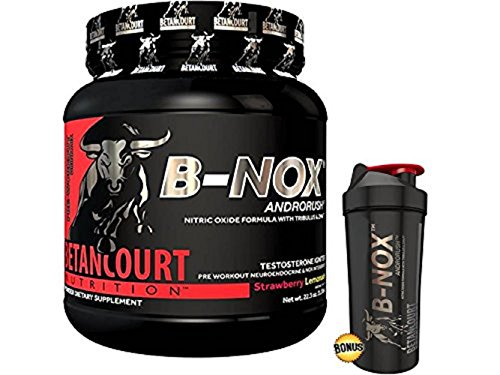 Betancourt Nutrition - B-Nox Pre Workout Drink Mix, Strawberry Lemonade 35 servings, 22.3 oz (1.3 lbs.) - Plus Free Bonus Shaker Bottle