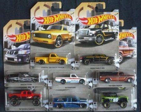 Hot Wheels 2016 Rad Truck Walmart Exclusive Set of 8