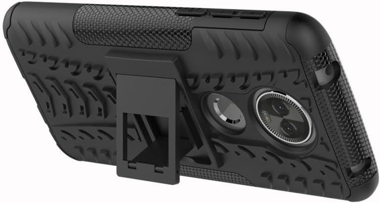 Hyun Blue Tyre Pattern Design Heavy Duty Tough Armor Extreme Protection Case With Kickstand Shock Absorbing Detachable 2 in 1 Case Cover For Motorola Moto E5 Plus Moto E5 Plus Case