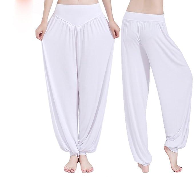 Pantalones de Yoga Goodid Pantalones de Fitness Ancho de Algodón Super Suave y Transpirable para Yoga, Pilates, Deportes Unisex