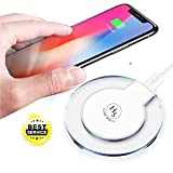 valet tray iphone 6 plus - [2018 Upgraded] Fast iPhone Wireless Charger, HomeSweety Qi Wireless Charger Pad for Apple iPhone X iPhone 8/8 Plus Samsung Note 8 S8/S8 Plus/S7/S7 Edge/S6 Nexus Nokia Universal Wireless Charger Stand