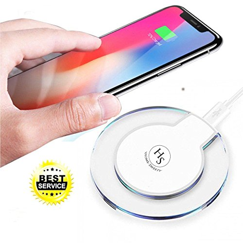 [2018 Upgraded] Fast iPhone Wireless Charger, HomeSweety Qi Wireless Charger Pad for Apple iPhone X iPhone 8/8 Plus Samsung Note 8 S8/S8 Plus/S7/S7 Edge/S6 Nexus Nokia Universal Wireless Charger Stand Verizon Vehicle Power Charger