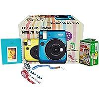 Fujifilm Instax Mini 70 Travel Box Combo Offer (Blue Camera + Twin Film Pack + Marker + Scrap Book + Neck Strap + Masking Tape)