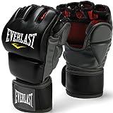Everlast Train Advanced MMA 7-Ounce Grappling / Training Gloves (Black, Small/Medium)