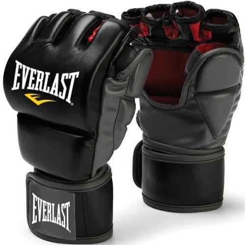 Everlast Train Advanced MMA 7-Ounce Grappling/Training Gloves (Black, (Mma Striking Training Gloves)