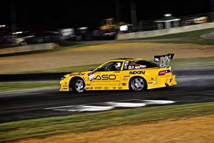 Amazon Com Nissan S13 240sx 240 Yellow Left Rear Hd Poster Drift