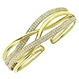 2.78ct 14k Yellow Gold Diamond Bangle Bracelet
