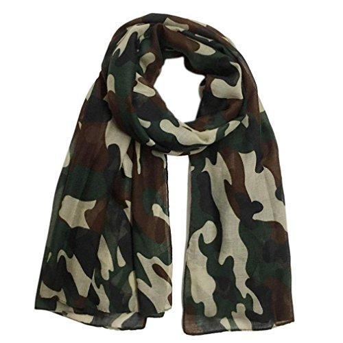 Women Scarf Winter Shawl Fashion Camouflage Scarf Soft Wrap Stole Pashmina Scarves (A)