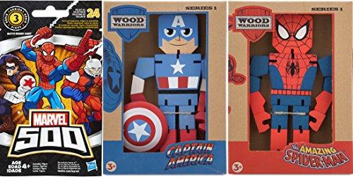 The Amazing Spider-Man VS Captain America Wood Warriors Figure 8