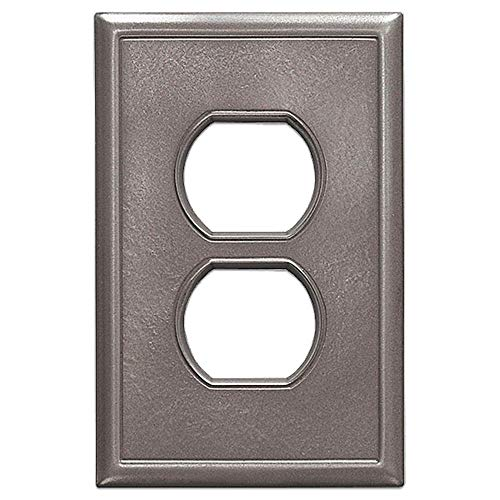 - Single Duplex Electrical Outlet Cover Questech Screwless Wall Plate Covers | No Visible Screws (Brushed Nickel)
