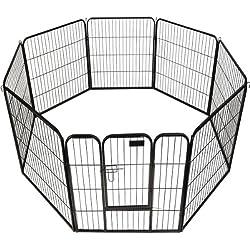 "40"" 8 Panel Heavy Duty Pet Playpen Dog Exercise Pen Cat Fence"