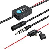 Proster 12V 25dB ANT-208 Car FM Radio Antenna Amplifier Booster with Indicator Model