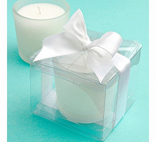 Glass Candle Favors in Clear Box - Set of 21