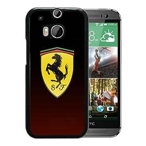 Customized Portfolio Ferrari logo 4 Black HTC ONE M8 Phone Cover Case