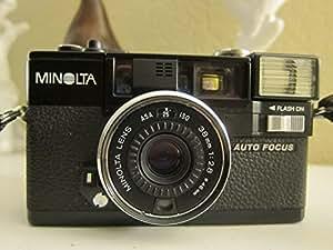 Minolta Hi-Matic AF2 Auto Focus 35mm Film Flash Camera w/ Minolta Lens 38mm 1:2.8 (46mm)