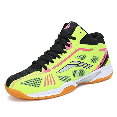 - Fashiontown Badminton Shoes Men Non Slip Indoor Court Sneakers Wide Safety Training Shoe