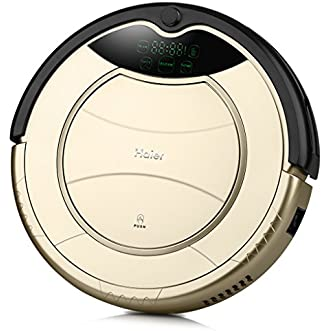 Haier Pathfinder Robot Vacuum Cleaner Robot T320 Smart Cleaning Robot Auto Vacuum Microfiber Dust Cleaner Automatic Sweeping Machine US (Golden)
