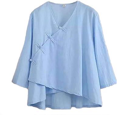 Inlefen Blusas de Las Mujeres Camiseta de Manga Larga Elegante ...