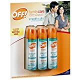 Off! Smooth & Dry Insect Repellent, 4oz (3 Pack)
