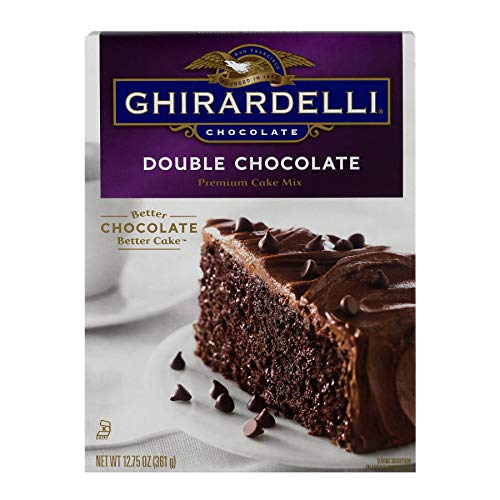 Ghirardelli Double Chocolate Premium Cake Mix, 12.75-Ounce Boxes (Pack of 12)