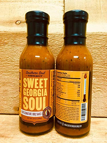 Southern Soul Barbeque BBQ Sauce - Award Winning BBQ Sauce from the South's Best BBQ (Sweet Georgia Soul, One 14oz Bottle) (Best Southern Bbq Sauce)
