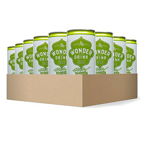 Wonder Drink Kombucha, Organic Asian Pear and Ginger Sparkling Fermented Tea, 8.4oz Can (Pack of 24) - Packaging May Vary