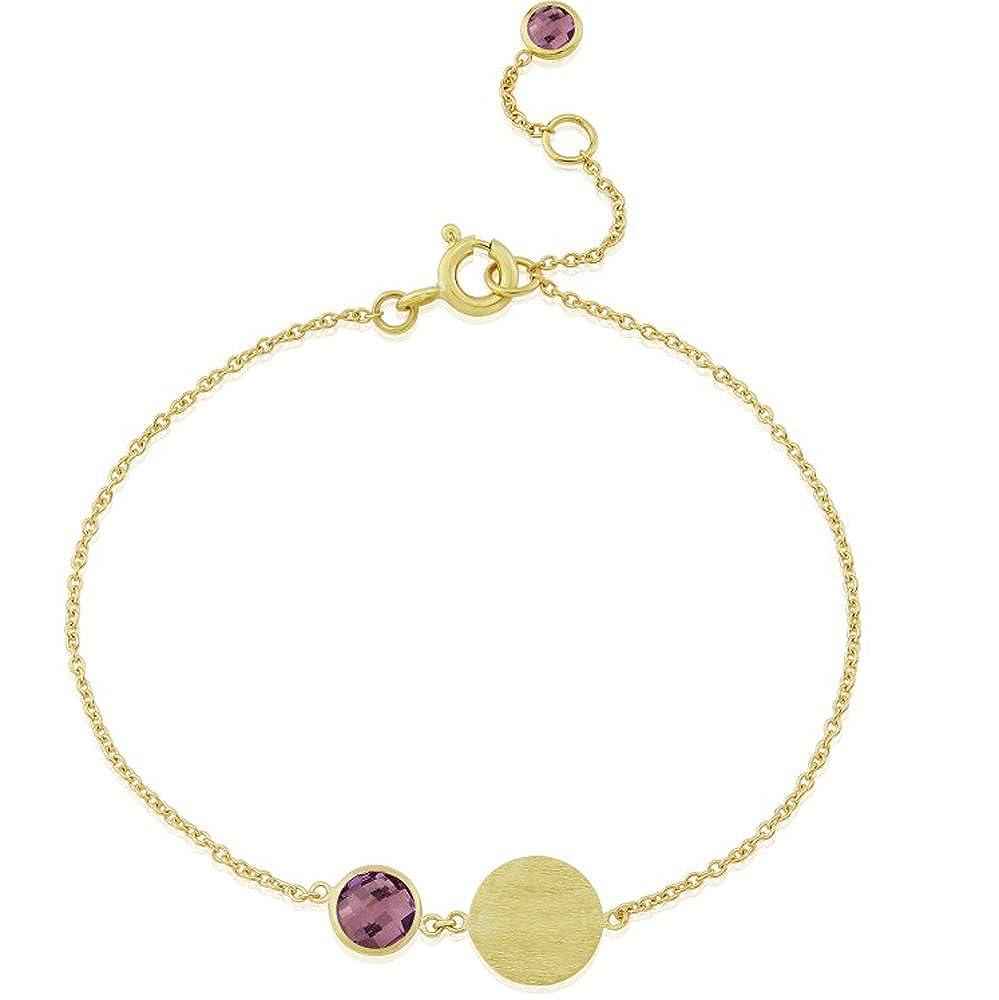 Nathis February Birthstone Bracelet Amethyst