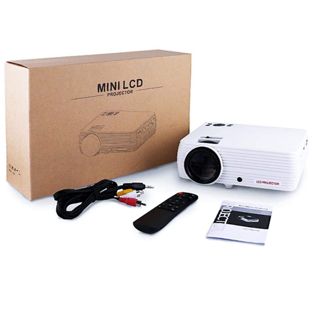 Opfury Proyector HD, Nuevo Mini proyector LED portátil HD de ...