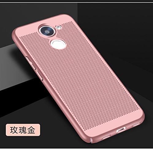 Funda Huawei Enjoy 7 Plus,Alta Calidad Ultra Slim Anti-Rasguño y Resistente Huellas Dactilares Totalmente Protectora Caso de Plástico Duro Case,Cuadrícula Disipación de calor Antideslizante Cover E