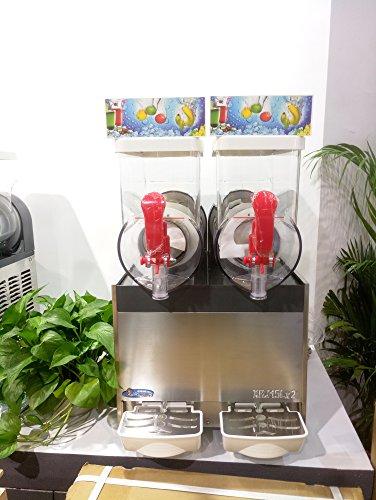 Slush Machine- Slushie Machine with Two 15L Tanks, 110V and 60Hz, Make the Perfect Fine Ice Slushies with the Frozen Drink Machine