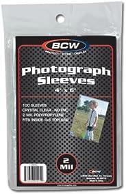 BCW 1-4X6SLV Bcw 4X6 Photo Sleeves