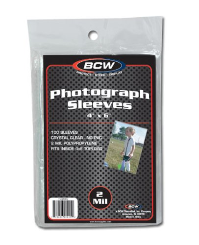BCW Photo Sleeves 100 Pack
