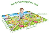 Double-sided Baby Play Mat, Extra Large Crawling Mat 180*200cm Waterproof Non-Toxic Non-Slip Baby Activity Educational Mat Area Rug for Kids and Children Toddler Picnic Foam Floor Mat for Home/Outdoor