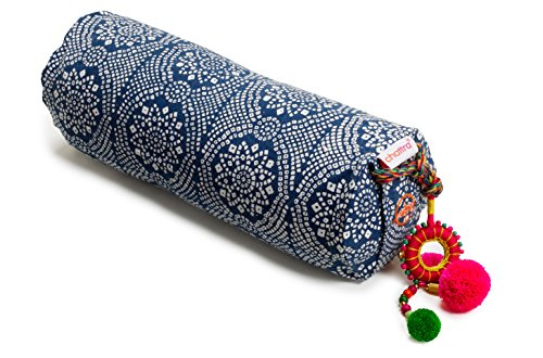 Chattra Navy Bandhani Neck Cushion