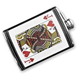 8oz Flask Stitched Jack of Hearts - Jack / card game Stainless Steel - Neonblond