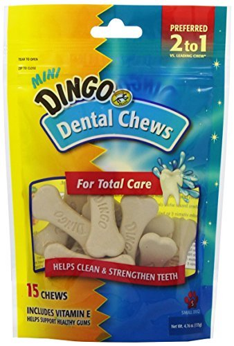 Dingo Mini Dental Chews for Total Care, 15-Pack , 4.76 ounce. by Dingo
