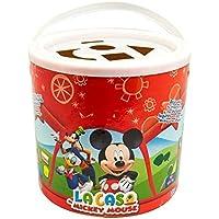 Novelty Cubeta con Bloques de Madera, La Casa Mickey Mouse