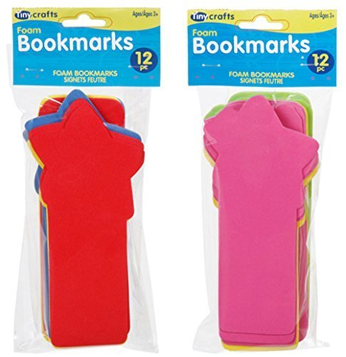 Darice Foam Bookmarks - Assorted Styles and Colors - 24 pieces ()