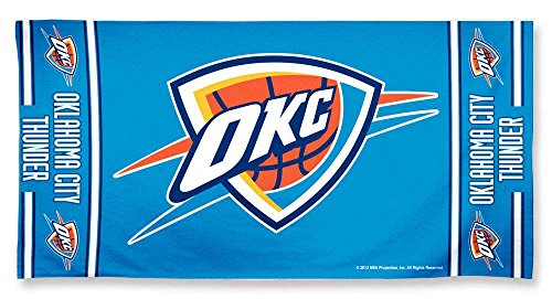fan products of NBA Oklahoma City Thunder Beach Towel, Team Color, One Size