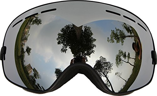 [Ski Goggles, COPOZZ Snow Goggles with Spherical Wide Vision Anti-fog Magnet Detachable Double Lens TPU Frame For Men And Women Snowboard skate Mountain Climbing] (Halloween Goggles)