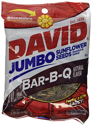 David BBQ Sunflower Seeds, 5.25 oz, (2 packs) Roasted and Salted For Sale