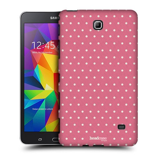 Head Case Designs Pink Dots French Country Patterns Protective Snap-on Hard Back Case Cover for Samsung Galaxy Tab 4 7.0 T230 T231 T235