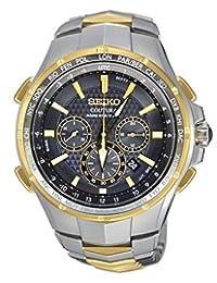 Seiko Coutura Radio-Sync Solar Chronograph Two-Tone Mens Watch SSG010