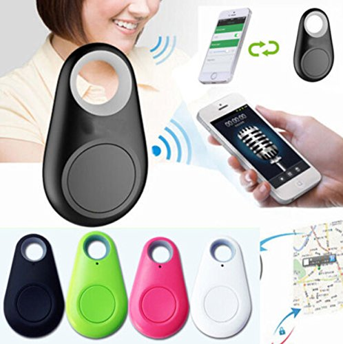 4 Piece Set Smart Dog Bluetooth Locator Pet Tracker w/Alarm Remote Selfie Shutter Release, Wireless Smart Bluetooth Tracker For your Pets, Phone, Elderly or Childern. You Get All Four Colors by THE LOTUS STORE