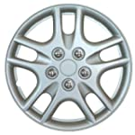 15 Inch Silver Car Hub Caps Wheel Tri...