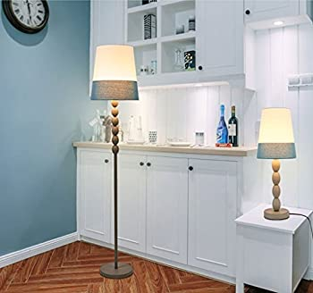 QYJZI Floor Lamps Hotel room villa floor lamp/American modern study bedroom bedroom Nordic simple creative lighting